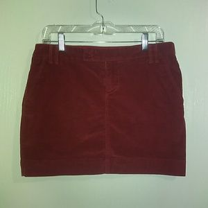 💛 Gap Burgundy Red Corduroy skirt